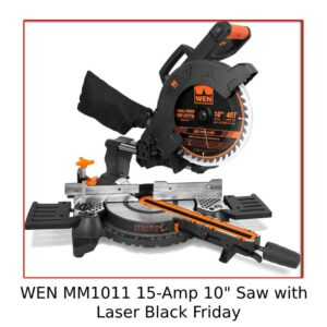 """WEN MM1011 15-Amp 10"""" Single Bevel Compact Saw with Laser"""